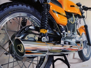 Desmo Details - oil on wood